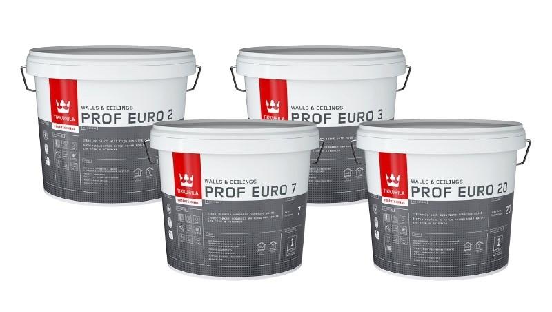 Обновление линейки красок Tikkurila Prof Euro