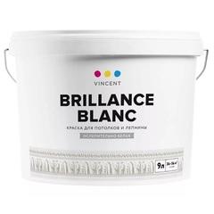 Краска для потолков Vincent Brillance Blanc / Винсент глубокоматовая