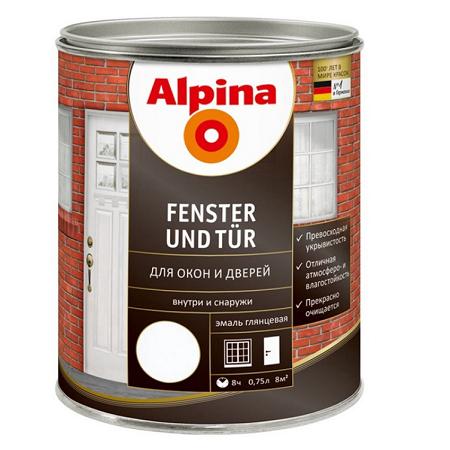 Эмаль для окон и дверей Alpina Fenster und Tür / Альпина глянцевая