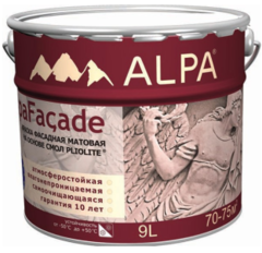 Краска фасадная на основе плиолита Alpa Альпа Фасад матовая