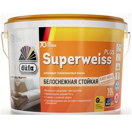 Краска акриловая интерьерная Dufa Retail Superweiss Plus / Дюфа Ритейл Супервайс Плюс