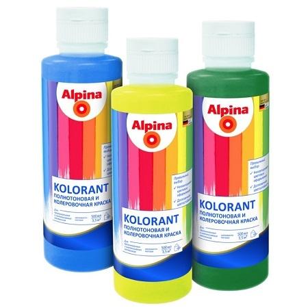 Краска полнотоновая Alpina Kolorant / Альпина Колорант & колер для ручного колерования