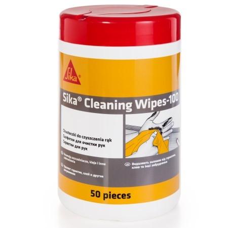 Салфетки для очистки от загрязнений Sika Cleaning Wipes-100 / Зика Клининг 100