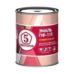 Эмаль ПФ-115 Ярославские Краски Пять Мастеров полуглянцевая