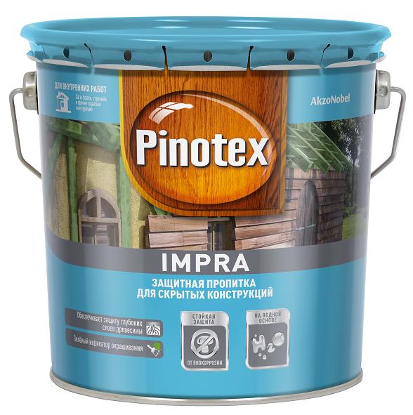 Защитная пропитка-антисептик для скрытых конструкций Pinotex Impra / Пинотекс Импра