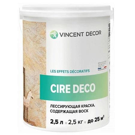 Краска лессирующая с воском  Vincent Decor Cire Deco / Винсент Декор Сир Деко