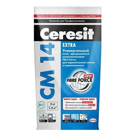 Клей для плитки и керамогранита Ceresit CM 14 Extra / Церезит СМ 14 Экстра