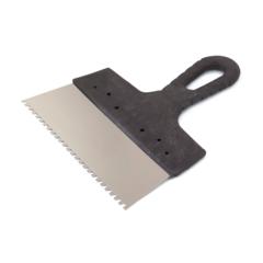Шпатель зубчатый нержавеющая сталь Color Expert / Колор Эксперт пластиковая ручка 200 мм