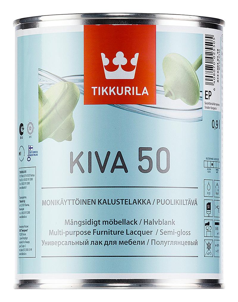 Лак для мебели Tikkurila Kiva 50 / Тиккурила Кива 50 полуглянцевый