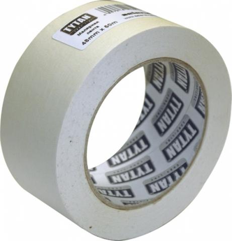 Лента малярная, бумажная Tytan Euro-Line / Титан белая