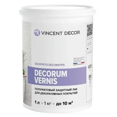 Лак защитный для декоративных покрытий полуматовый Vincent Decor Decorum Vernis / Винсент Декор