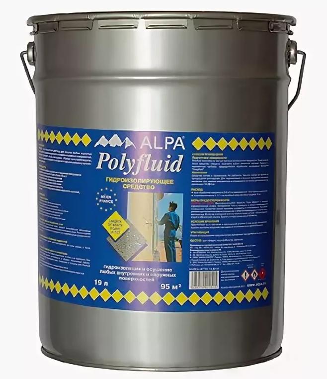Средство для гидроизоляции пропиточное Alpa Polyfluid / Альпа Полифлюид