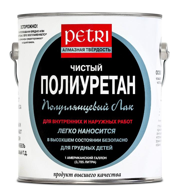 Лак паркетный Petri Diamond Hard / Петри Даймонд Хард полуглянцевый