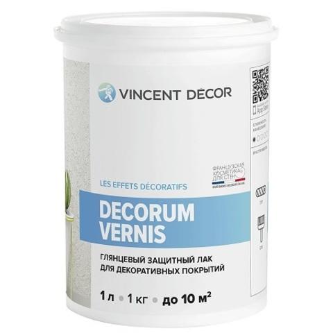 Лак защитный для декоративных покрытий глянцевый Vincent Decor Decorum Vernis / Винсент Декор Вернис