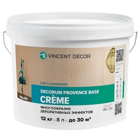 Многообразие декоративных эффектов Vincent Decor Decorum Provence base Crеme / Винсент Декор