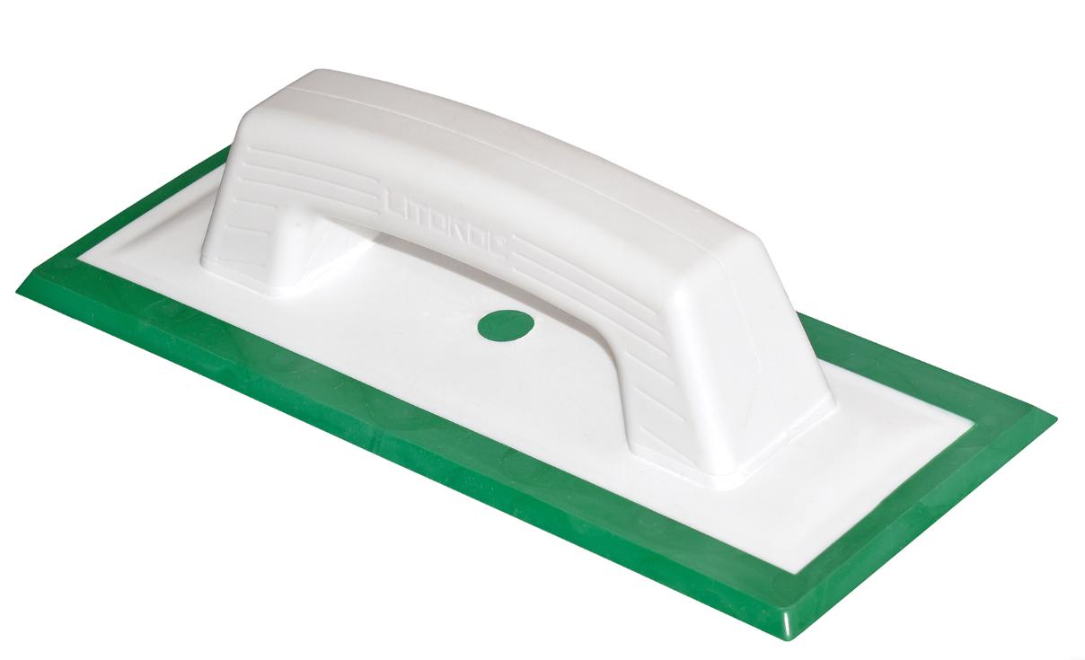 Шпатель для затирки Litokol / Литокол резиновый, зеленый