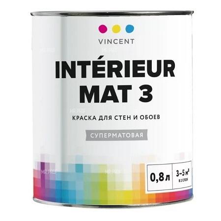 Краска для стен и потолков Vincent Interieur Mat 3 / Винсент Интерьер Мат 3 матовая