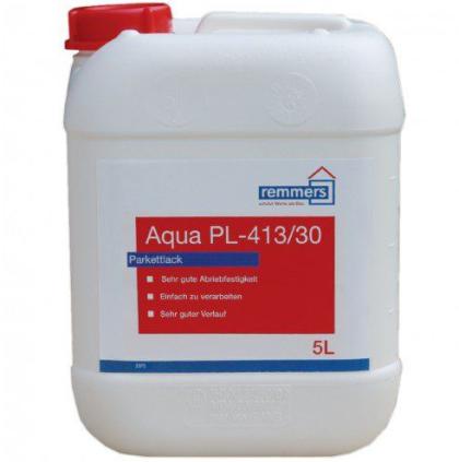 Лак паркетный Remmers Aqua PL-413/30 Parkettlack / Реммерс Аква Паркетлак полуматовый