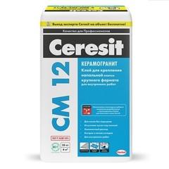 Клей для крупногабаритной напольной плитки Ceresit СМ 12 / Церезит