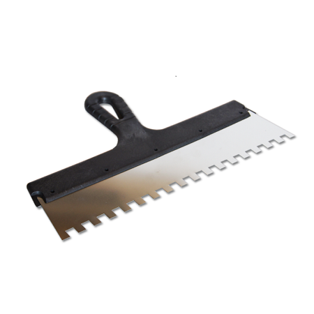 Шпатель зубчатый нержавеющая сталь Color Expert / Колор Эксперт пластиковая ручка 250 мм
