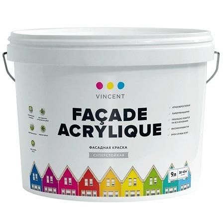 Краска фасадная Vincent Facade Acrylique / Винсент Фасад Акрилик матовая