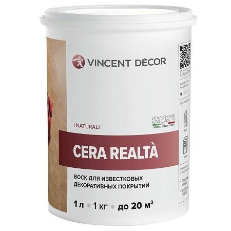 Воск для защиты декоративных покрытий Vincent Decor Cera Realta / Винсент Декор
