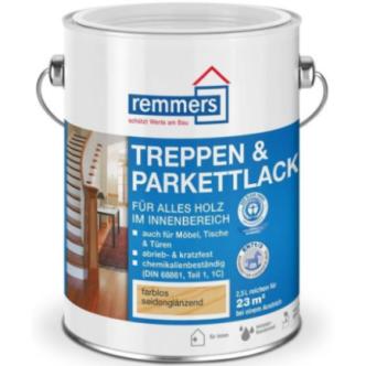 Лак паркетный Remmers Treppen&Parkettlack 30 / Реммерс Паркетлак шелковисто-матовый