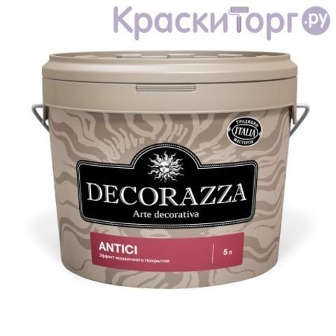 Декоративная штукатурка с эффектом мозаичного покрытия Decorazza Antici / Декорацца Античи