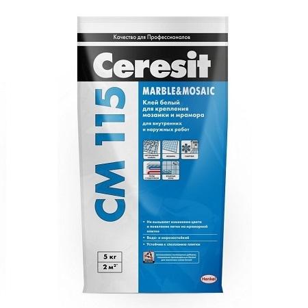 Клей для плитки и мозаики Ceresit CM 115 Marble & Mosaic / Церезит СМ 115