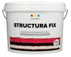 Грунтовка под структурные покрытия Vincent Structura Fix / Винсент Структура Фикс белая