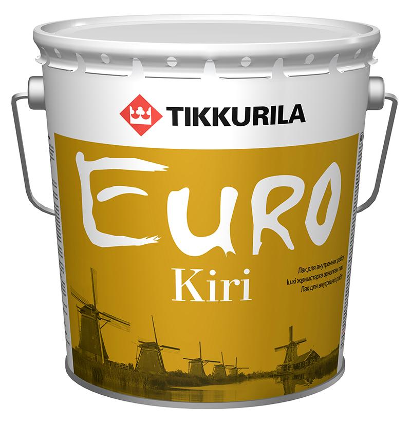 Лак паркетный Tikkurila Euro Kiri / Тиккурила Евро Кири глянцевый