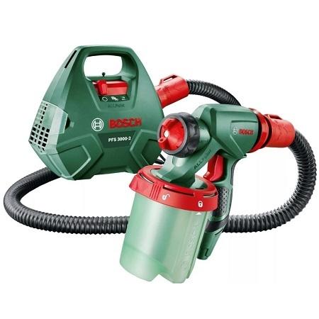 Краскораспылитель электрический для красок, эмалей, пропиток Bosch  PFS 3000-2 мощность 650 Вт