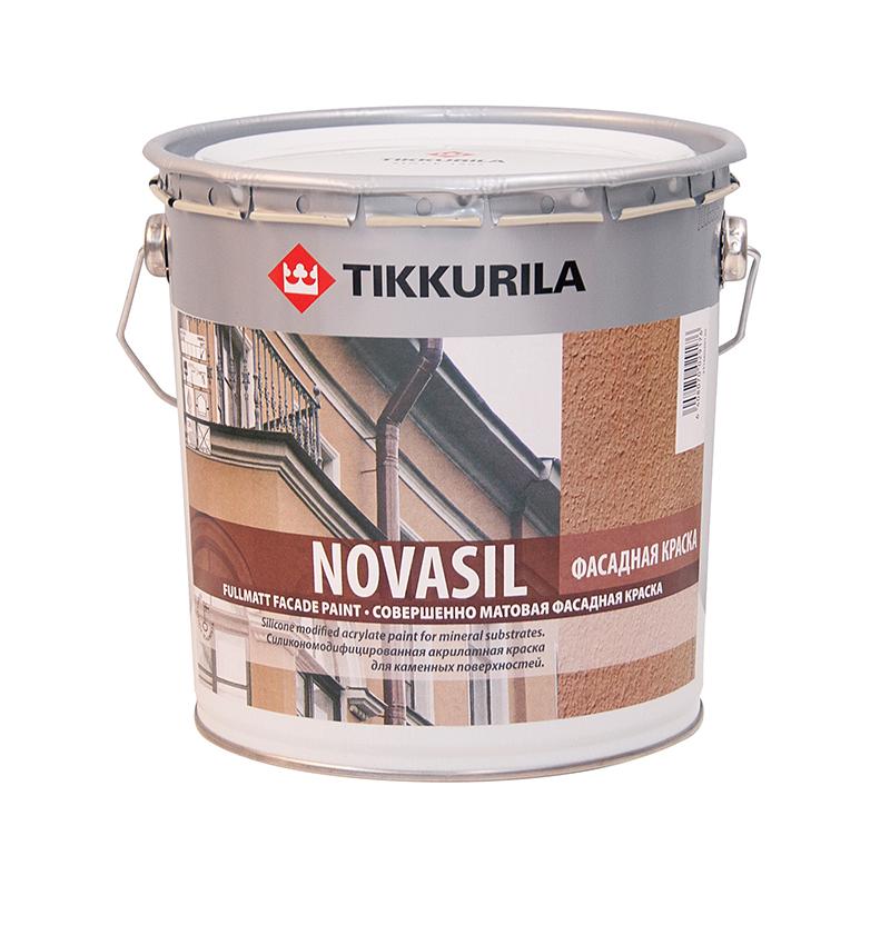 Краска фасадная Tikkurila Novasil / Тиккурила Новасил глубокоматовая