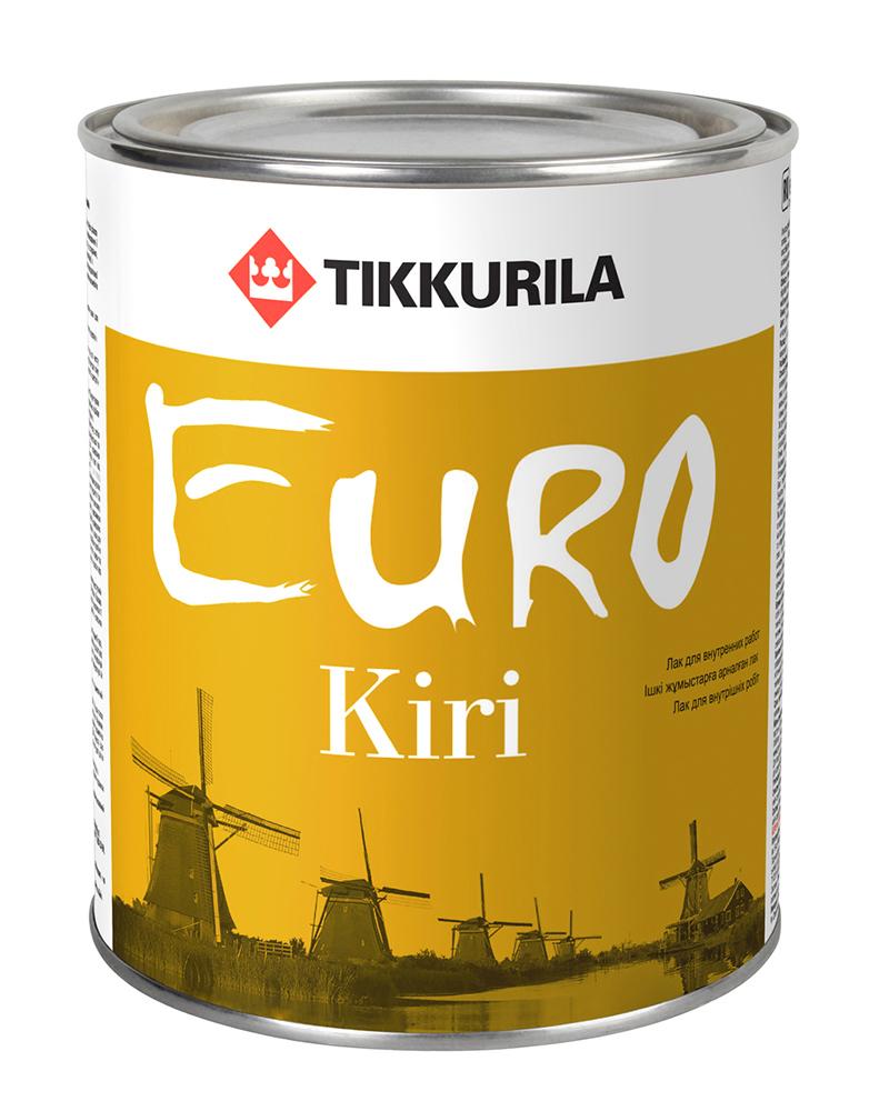 Лак паркетный Tikkurila Euro Kiri / Тиккурила Евро Кири полуматовый