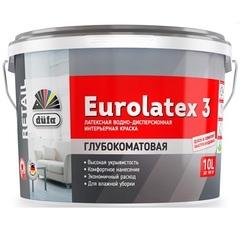 Краска латексная интерьерная Dufa Retail Eurolatex 3 / Дюфа Ритейл Евролатекс