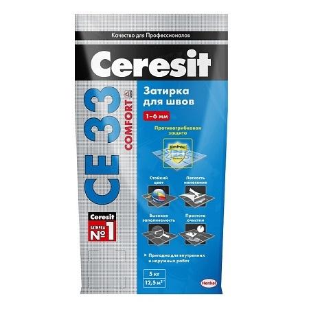 Затирка для плитки Ceresit СЕ 33 Comfort / Церезит СЕ 33 Комфорт