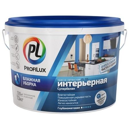 Краска латексная влагостойкая ProfiLux PL- 10L / Профилюкс