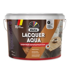 Лак защитный интерьерный полуглянцевый Dufa Lacquer Aqua / Дюфа Аква