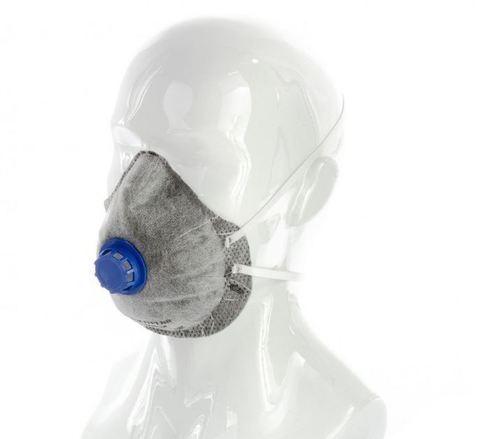 Респиратор маска с угольным слоем и клапаном выхода FFP1 СибрТех