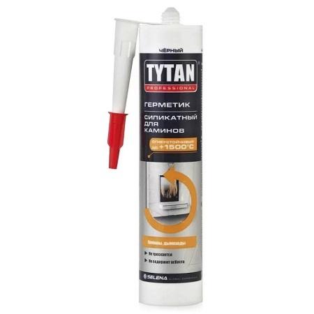 Герметик силикатный термостойкий для каминов, черный Tytan Professional / Титан