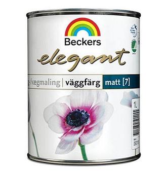 Краска для стен и потолков Beckers Elegant 7 Vaggfarg Matt / Беккерс Элегант Вагфарг матовая