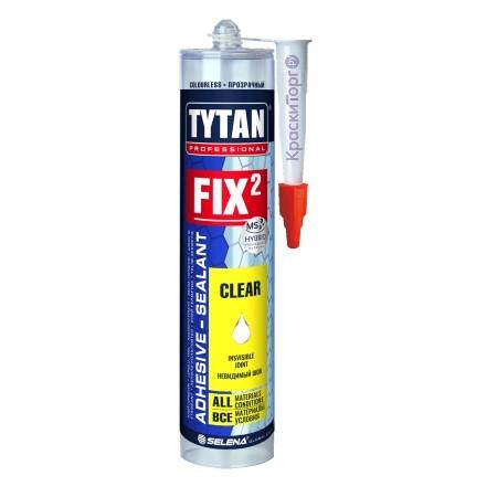 Клей герметик гибридный Tytan Professional Fix2 Clear / Титан Фикс
