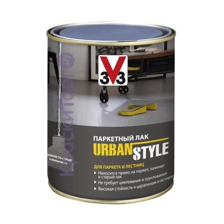Лак паркетный V33 Urban Style полуматовый / В33 Урбан Стайл
