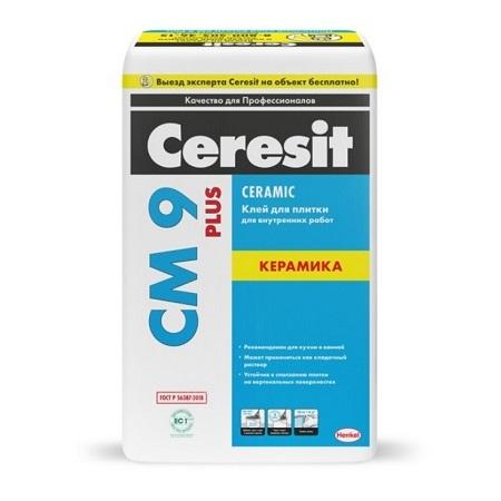 Клей для керамической плитки для внутренних работ Ceresit CM 9 Plus / Церезит