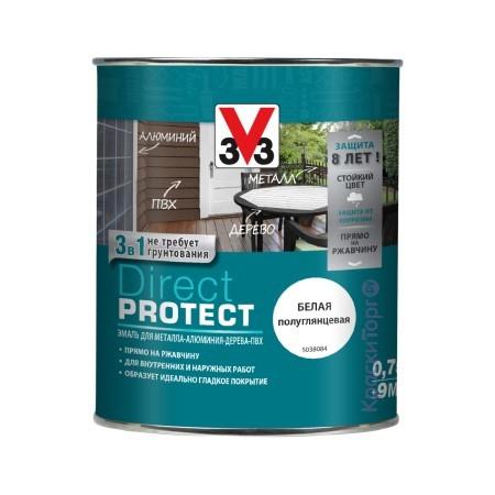 Эмаль для металла и пластика V33 Direkt Protect / В33 Директ Протект