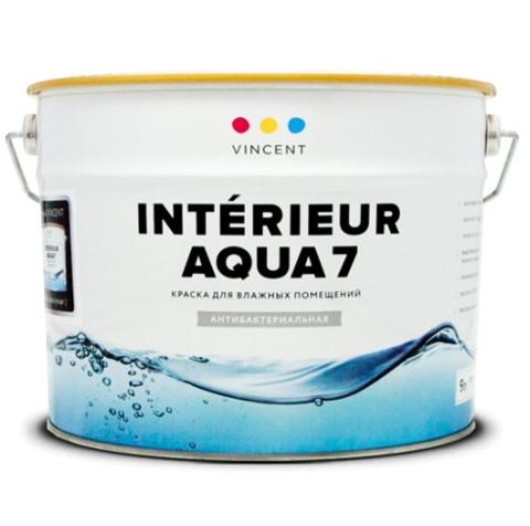 Краска для влажных помещений Vincent Interieur Aqua 7 / Винсент Интериор Аква 7 полуматовая