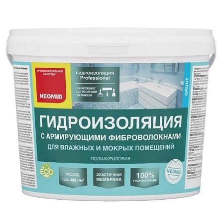 Мастика гидроизоляционная с армирующими фиброволокнам Neomid / Неомид