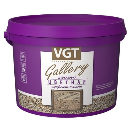 Штукатурка декоративная мелкозернистая Эффект Камня VGT Gallery / ВГТ
