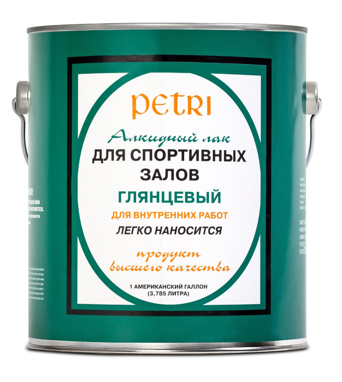 Лак для спортзалов и металла Petri Spar Gym / Петри глянцевый