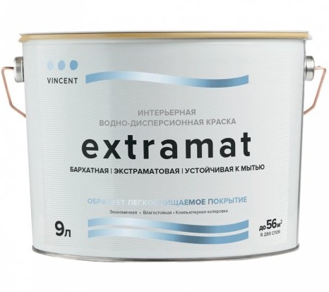 Краска для стен и потолков Vincent Extramat / Винсент Экстрамат полуматовая